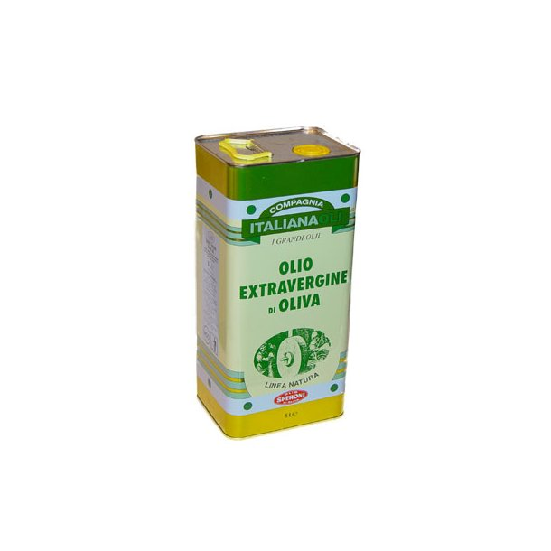 Ekstra jomfruoliven olie, 5 liter metal beholder