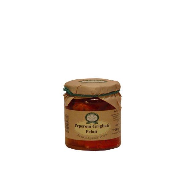 Grillede peberfrugter i olie