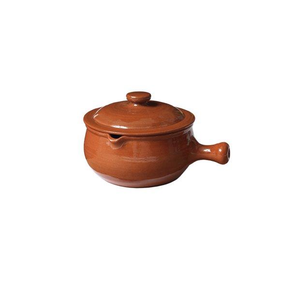 Kaserolle med låg i keramik