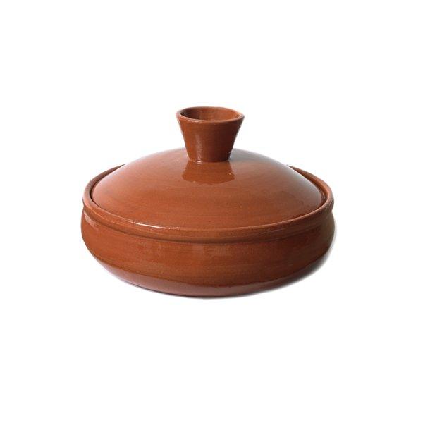 Gryde i keramik med låg