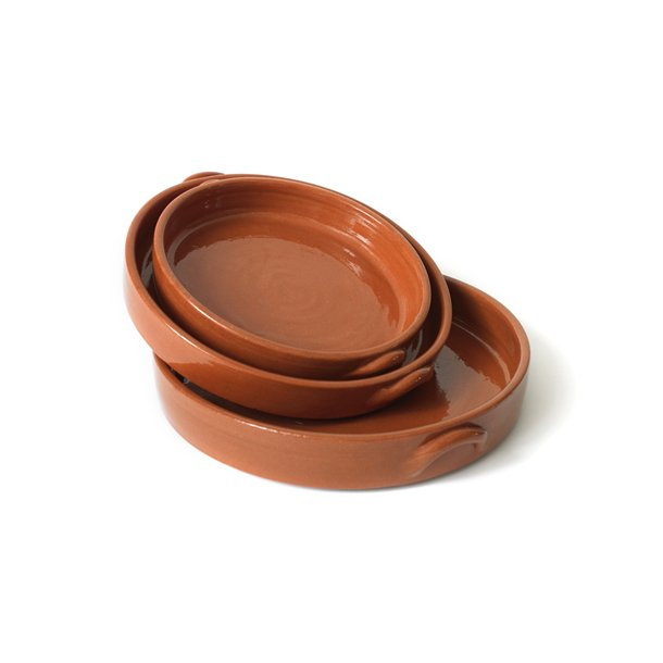 Fade i keramik, runde, sæt af 3