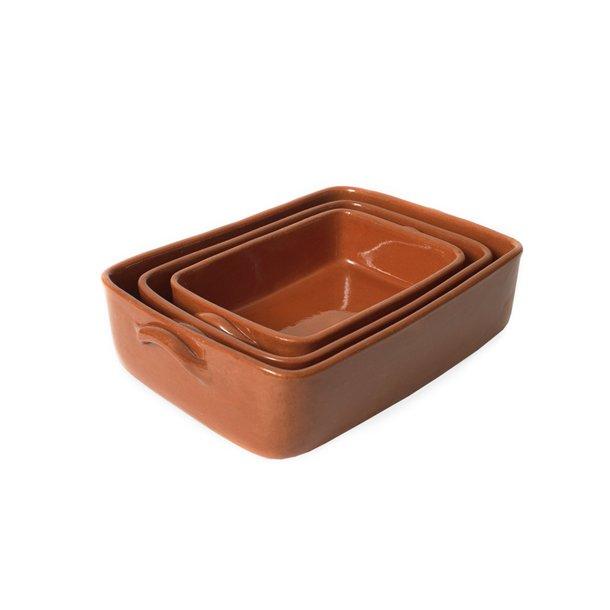 Fade i keramik, rektangulære, sæt af 3